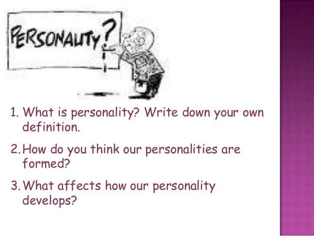 what affects our personality