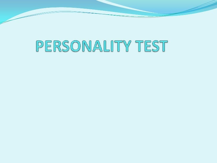 PERSONALITY TEST<br />