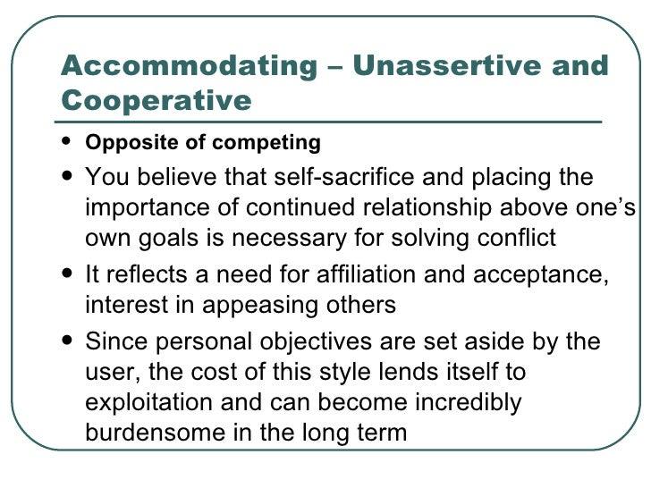 Accommodating personality