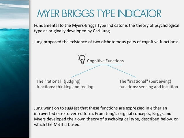 Understanding the Myers-Briggs Type Indicator
