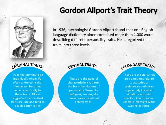 gordon allport s trait theory How can the answer be improved.