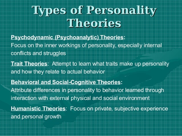 humanistic personality concepts emphasis on