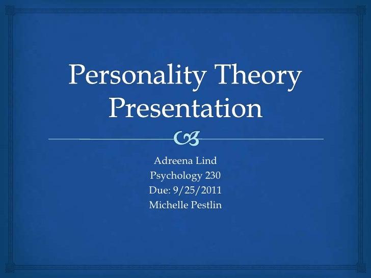 Adreena LindPsychology 230Due: 9/25/2011Michelle Pestlin