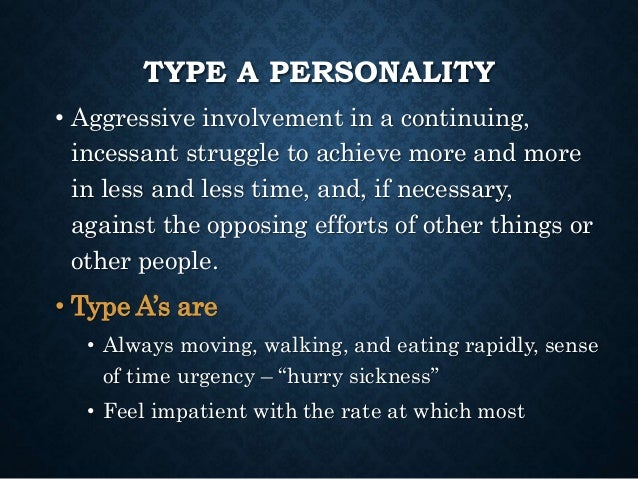 A personality traits type Personality Traits