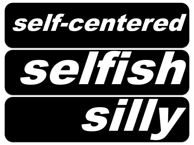 What Is Another Word For Self Centered