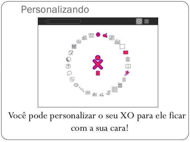Personalizando Você pode personalizar o seu XO para ele ficar com a sua cara!