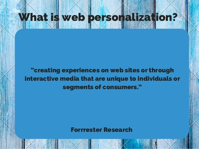Personalization as we know it Slide 2