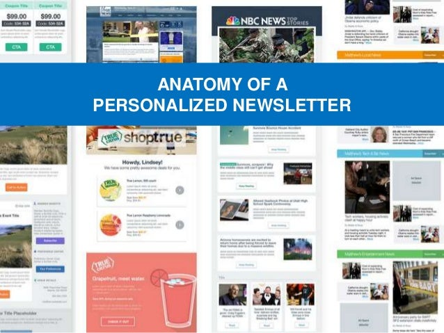 ANATOMY OF A PERSONALIZED NEWSLETTER
