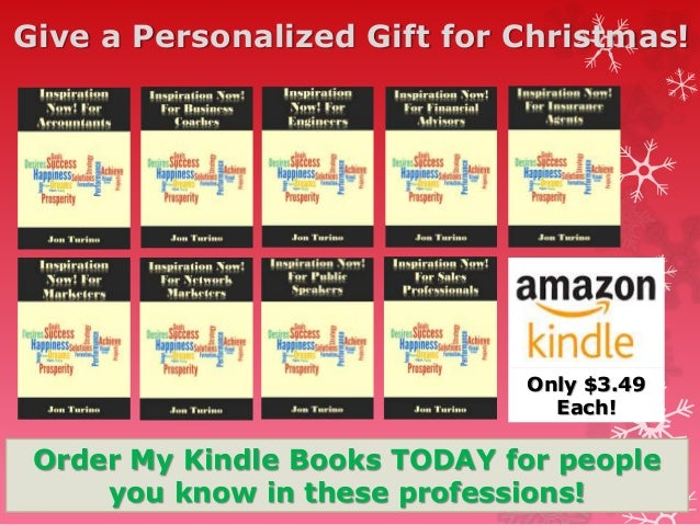 Give a Personalized Gift for Christmas! Order My Kindle Books TODAY for people you know in these professions! Only $3.49 E...