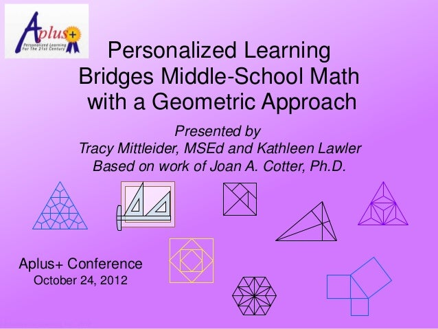 Personalized Learning                               Bridges Middle-School Math                                with a Geome...