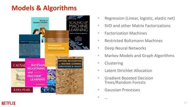 17  Models & Algorithms   Regression (Linear, logistic, elastic net)   SVD and other Matrix Factorizations   Factorizat...