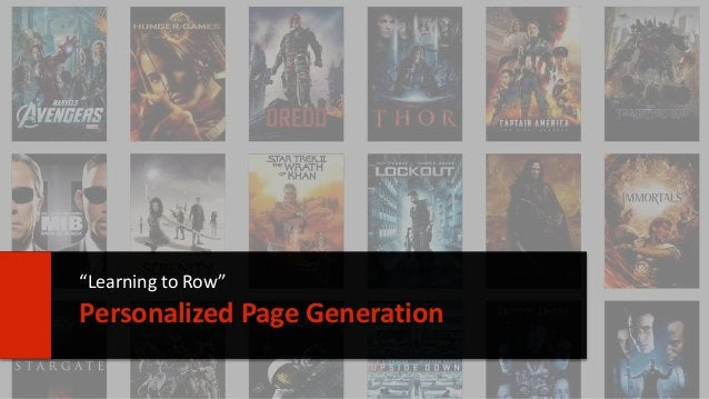 """26  """"Learning to Row""""  Personalized Page Generation"""