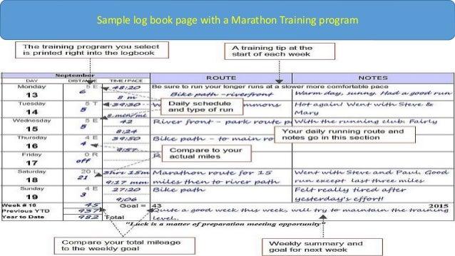 training log book template