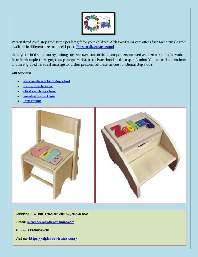 Terrific Personalized Step Stool Onthecornerstone Fun Painted Chair Ideas Images Onthecornerstoneorg