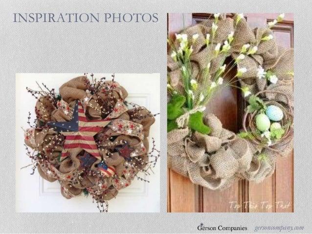 Gerson international floral diy decor program for Art decoration international