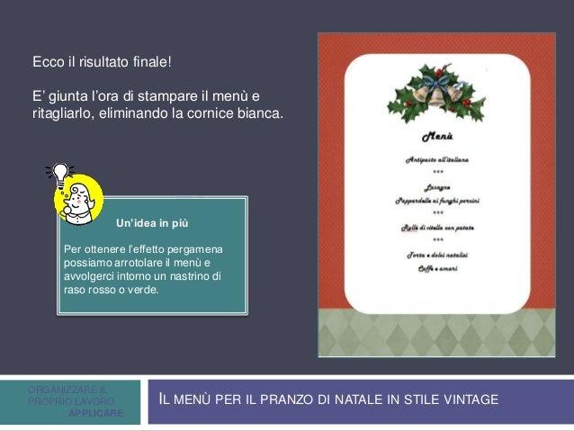 Creare e stampare un menu di natale