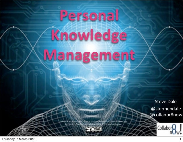 Personal	                            Knowledge	                           Management                                      ...