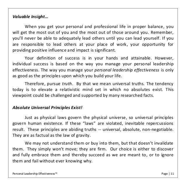 Personal leadership effectiveness ebook personal leadership effectiveness page 10 11 fandeluxe Document