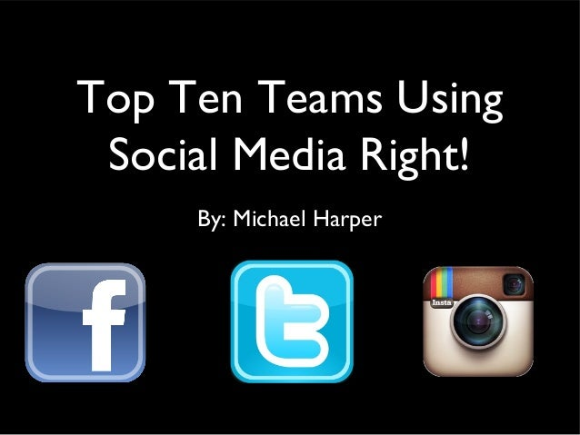 Top Ten Teams Using Social Media Right! By: Michael Harper