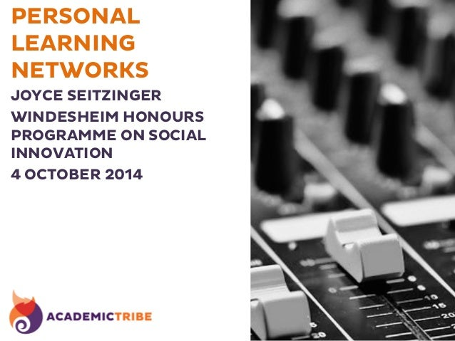 PERSONAL  LEARNING  NETWORKS  JOYCE SEITZINGER  WINDESHEIM HONOURS  PROGRAMME ON SOCIAL  INNOVATION  4 OCTOBER 2014