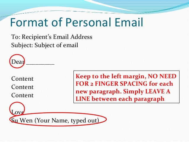 mla personal letter format