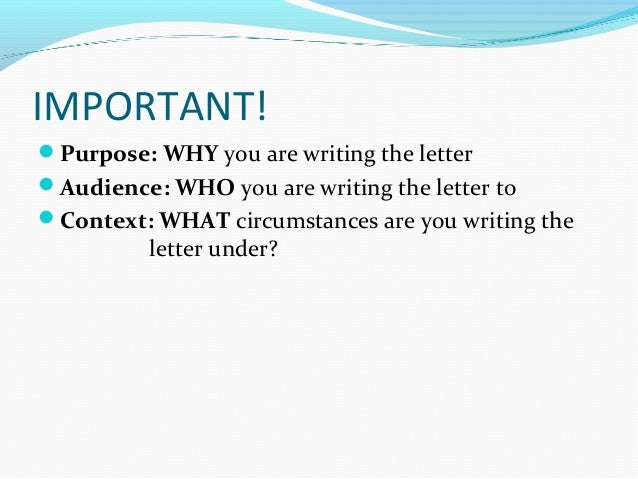 format of personal letter