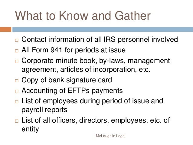Irc 6672 Personal Liability For Trust Taxes