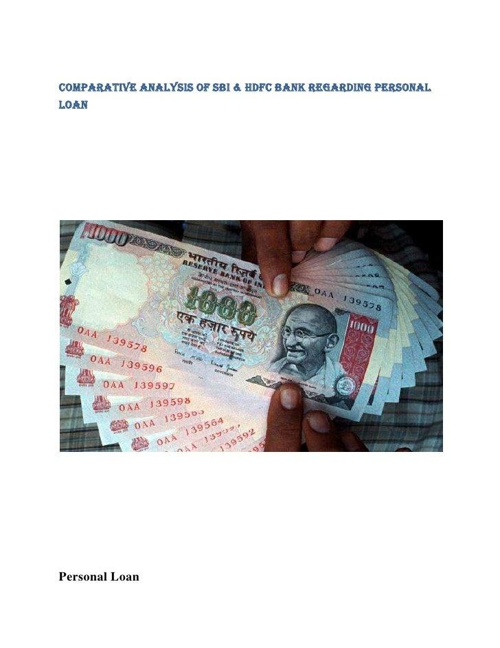 Comparative Analysis of SBI & HDFC Bank Regarding PersonalLoanPersonal Loan