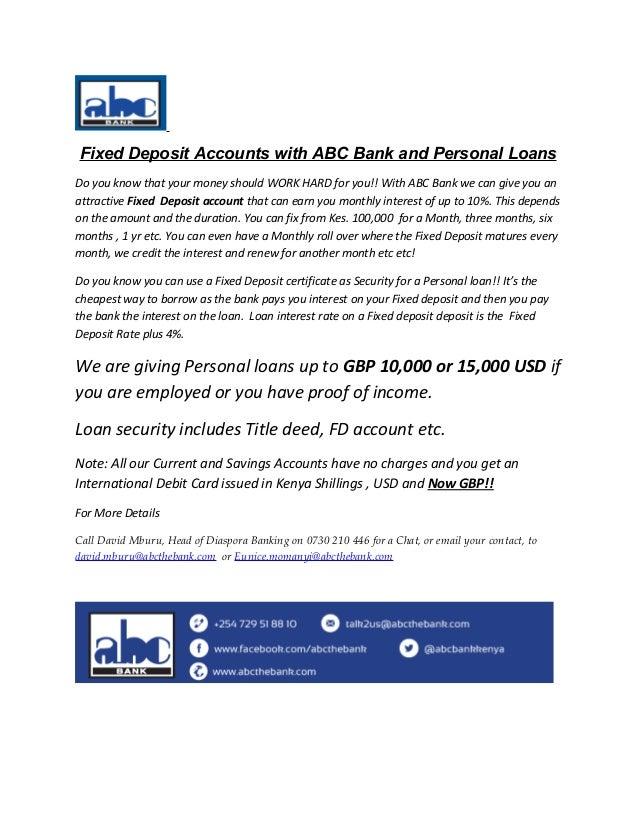 ABC Bank Personal Loan