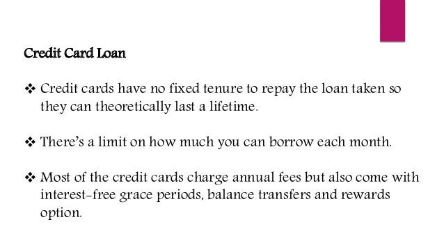 credit card loan - Personal Loan On Credit Card