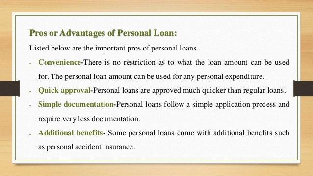 Personal Loans Advantages and Dis Advantages