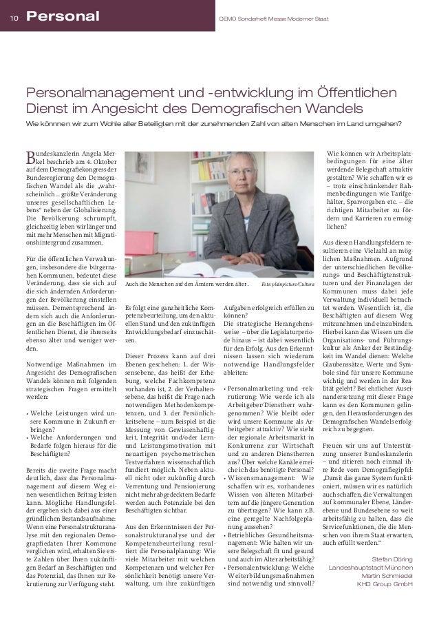10  Personal  DEMO Sonderheft Messe Moderner Staat  Personalmanagement und -entwicklung im Öffentlichen Dienst im Angesich...