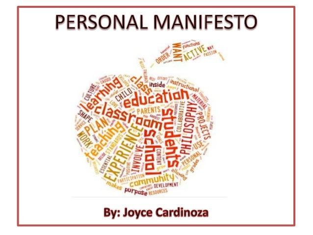 Manifesto Image: Personal Manifesto