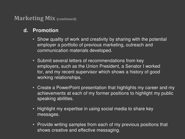 personal marketing plan january 2011