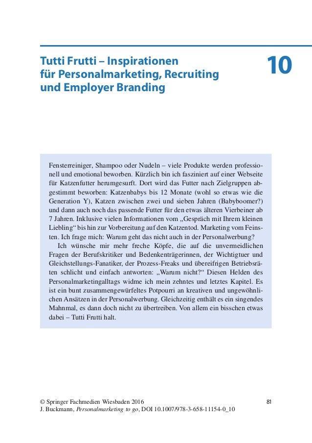 10Tutti Frutti – Inspirationen für Personalmarketing, Recruiting und Employer Branding Fensterreiniger, Shampoo oder Nudel...