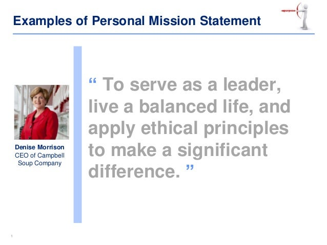 examples of personal mission statements