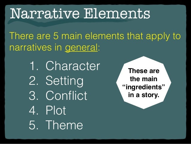 elements of narrative essay