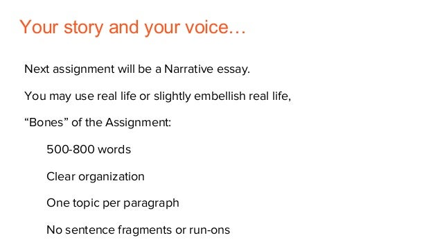 personal narrative your
