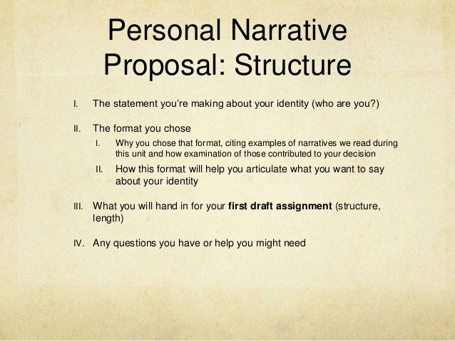 personal narrative structure