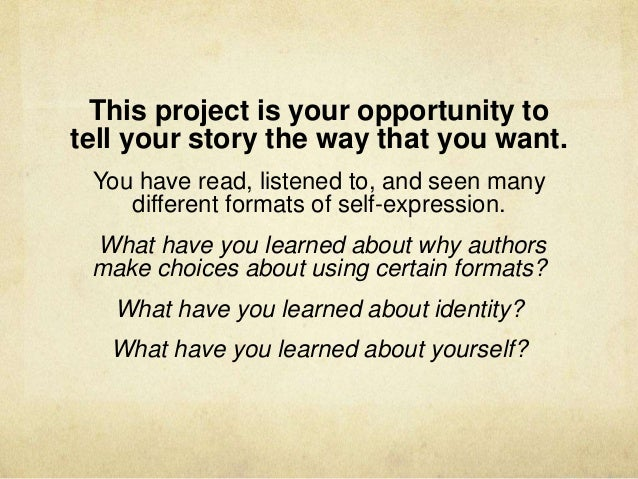 personal narrative identity In this wireless philosophy video, elisabeth camp (rutgers university) introduces the narrative view of personal identity and its major problems help us cap.