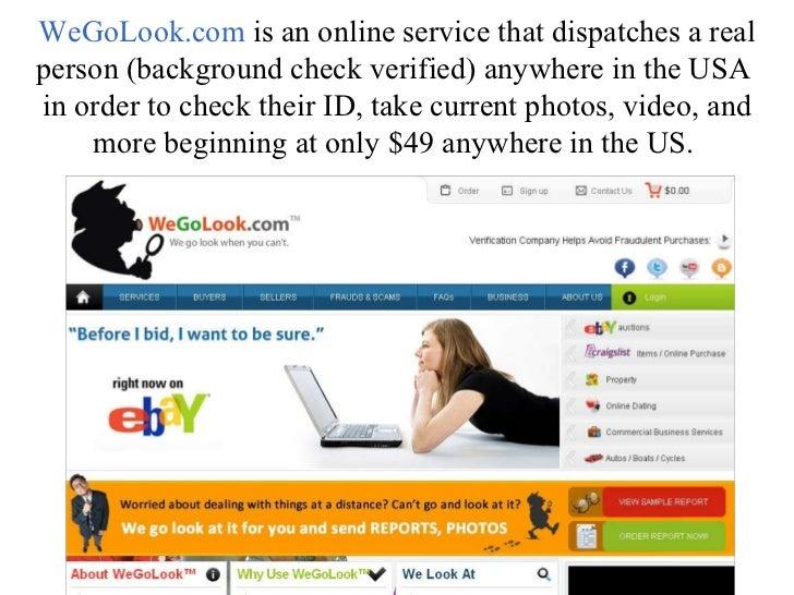 Online dating verification service