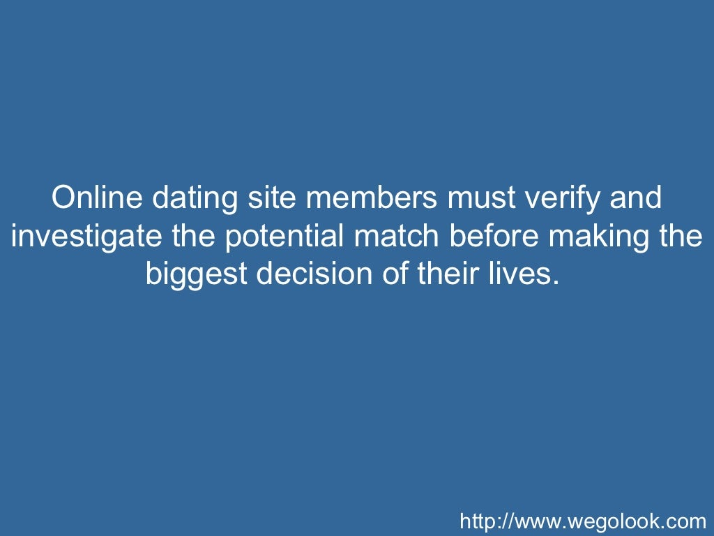 Online dating validation
