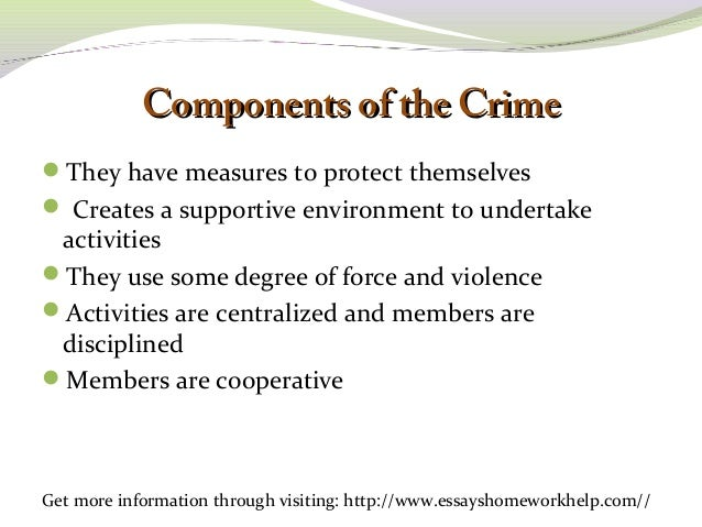 personal perception organized crime 3 Personal perception of organized crime in the beginning of my criminal justice courses, i believed organized crime to be a group of people using crime and violence to get ahead in life.