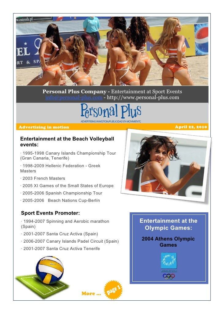 Personal Plus Company - Entertainment at Sport Events            info@personal-plus.com - http://www.personal-plus.com    ...