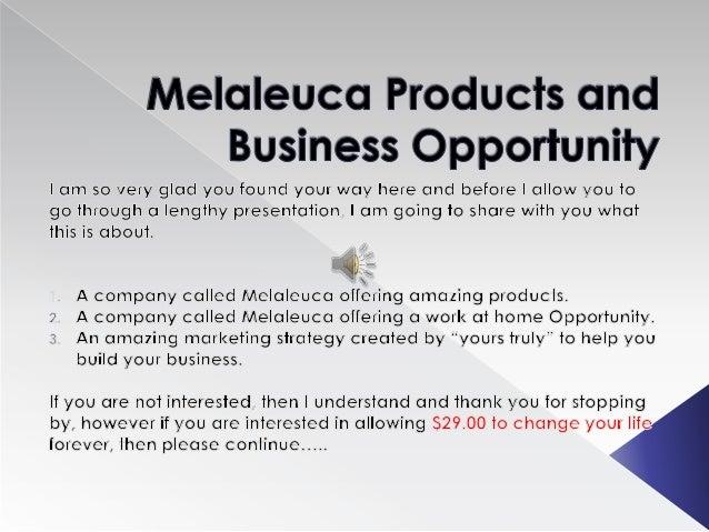 Melaleuca Personal Presentation