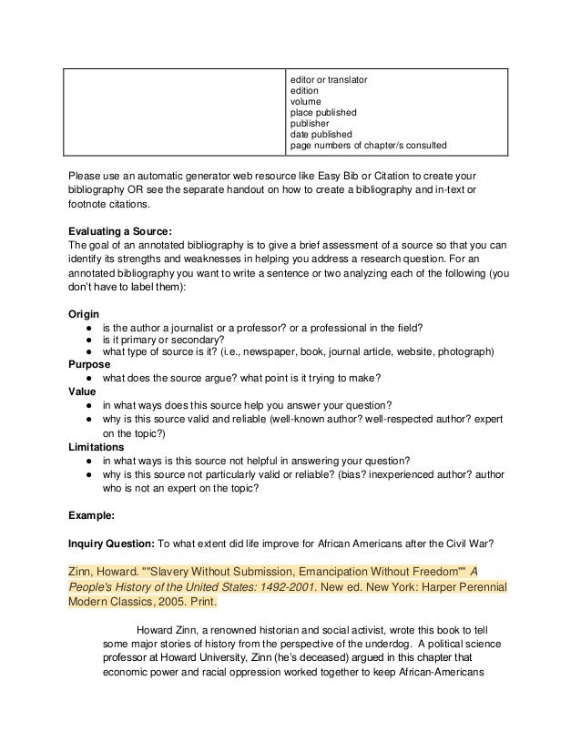 Annotated Bibliography Templates     Free Word   PDF Format     Avionews