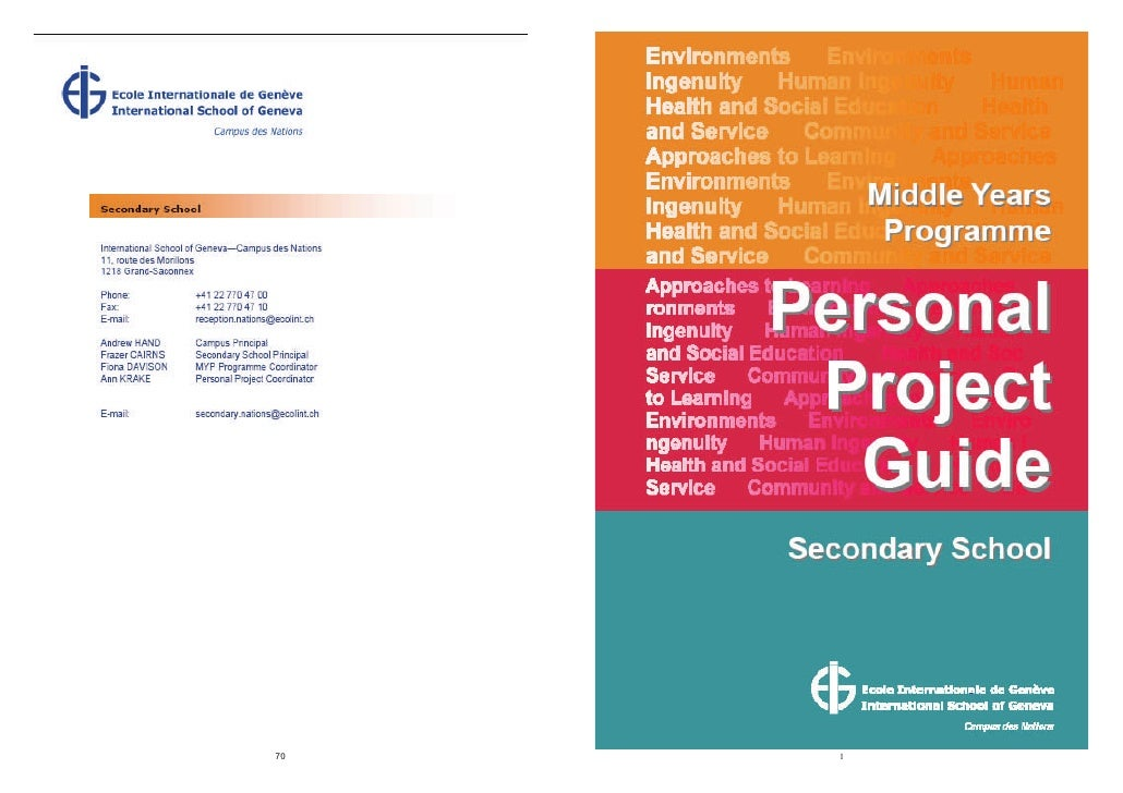 Personal Project Supervisors Guide A4 09 10