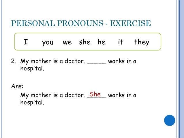 Personal pronouns – Personal Pronoun Worksheet