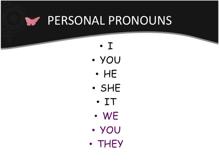 Personal pronouns + be simple present