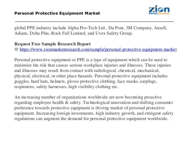 Personal Protective Equipment Market, Globally to reach approximately… - 웹
